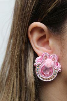 Shibori, Anklets, Ideas Para, Headpiece, Pendants, Jewellery, Earrings, Pink, Handmade