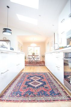 Perfect rug for this kitchen space.
