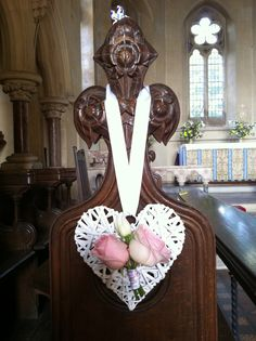 Wicker heart pew ends                                                       …