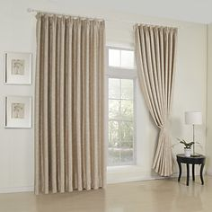 Look here for possible curtain options  (Two Panels) Classic Embossed Beige Room Darkening Thermal Curtains