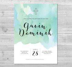 Boy's Baptism Invitation PRINTABLE | Baptism Invite | Baptism Invitation for Boy | Christening Printable Invitation by WLAZdesignSHOP on Etsy https://www.etsy.com/au/listing/269416220/boys-baptism-invitation-printable