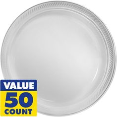 Enhance your table with Clear Plastic Dinner Plates! Package includes 50 clear dinner plates measuring 10 inches in diameter.  sc 1 st  Pinterest & Bulk Wedding Party Disposable dinnerware Heavyweight China ...