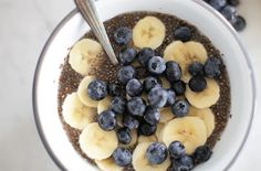 High-Protein Overnight Blueberry and Banana Chia Breakfast Bowl | LIVESTRONG.COM