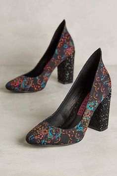 aef97b9fe057 Tracy Reese Printed Glitter Heel Pumps - anthropologie.com Funky Shoes