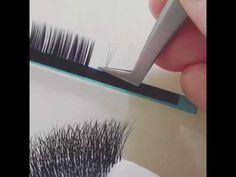 Как ФОРМИРОВАТЬ ПУЧКИ С ЛЕНТЫ для наращивания ресниц учимся вместе - YouTube