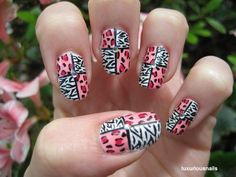 Fashionable Animal Print Nail Art Designs. It matches my bed spread XD