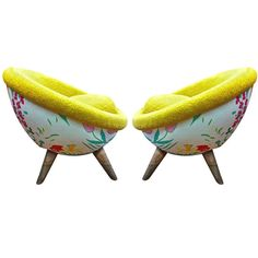 """Rare Pair of Jean Royère Small """"Oeuf"""" Armchairs with Flower and Wool Faux Fur 1 Art Deco Furniture, Cool Furniture, Flower Room, Love Chair, Modern Armchair, Mid Century Furniture, Vintage Decor, Faux Fur, Cool Things To Buy"""