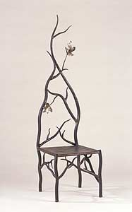 this looks like a fairytale chair....comfortable?  I don't know, but I like the character of the chair.