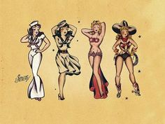 Pin up girl Sailor Jerry tattoo ~ art