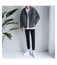 Discover recipes, home ideas, style inspiration and other ideas to try. Mode Outfits, Korean Outfits, Trendy Outfits, Fashion Outfits, Grunge Outfits, Sport Outfits, Outfit Hombre Casual, Korean Fashion Men, Moda Casual