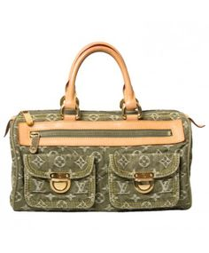 947a5a5d21c15b Labellov Louis Vuitton Green Monogram Denim Speedy ○ Buy and Sell Authentic  Luxury