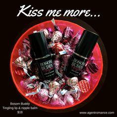 Guess the number of kisses game!  Pure Romance Bosom Buddy! www.agentromance.net