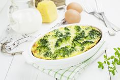 Baked Broccoli with Cheese and Eggs, a perfect texture for bariatric eating Broccoli And Eggs Recipe, Broccoli Recipes, Broccoli And Cheese, Bariatric Eating, Bariatric Recipes, Diet Recipes, Healthy Recipes, High Protein Vegetables, Scrambled Eggs With Cheese