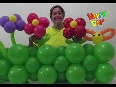 Vaso com Flores em balão 260 - YouTube