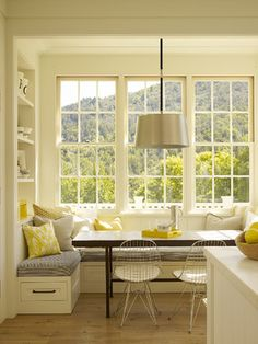 Bay window kitchen n