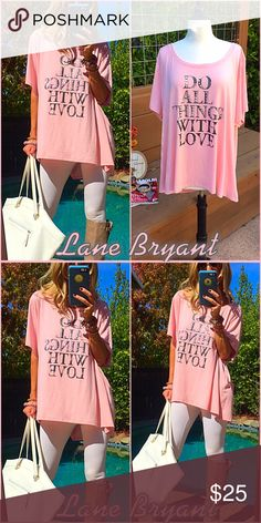 👛Lane Bryant👛 The shirt says it all👛, this LB fabulous & chic long pale pink tunic will have you rocking!. Size 26/28 polyester T is yours to LOVE!. Lane Bryant Tops Tunics