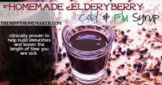The Hippy Homemaker's Homemade Elderberry Cold & Flu Syrup - TheHippyHomemaker