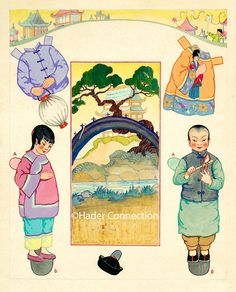 Oriental Paper Dolls @ Books @ Shop @ Hader Connection – Berta and Elmer Hader