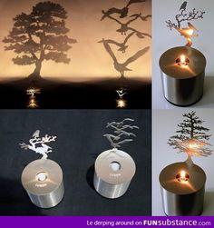 Candle Shadow Art