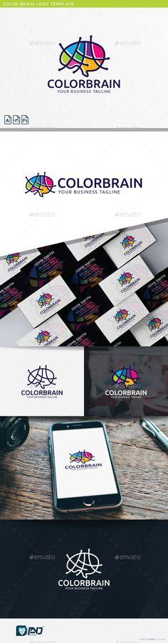 Color Brain Logo Template PSD, Vector EPS, AI. Download here: http://graphicriver.net/item/color-brain/14377059?ref=ksioks