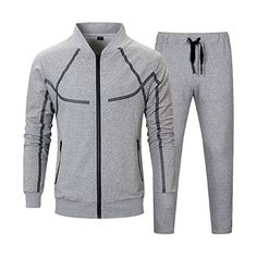 Men's Tracksuit Set 2 Piece Athletic Sports Casual Full Zip Active wear Sweatsuit Be sure to check out this awesome product. (This is an affiliate link) Mens Tracksuit Set, Tracksuit Jacket, Sports Tracksuits, Fitness Motivation, Gym Fitness, Gentlemen Wear, Track Suit Men, Suit Fabric, 2 Piece Outfits