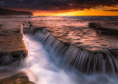 Turimetta and The Fall by Eddie Ang on Planet Earth, Cool Pictures, Planets, Waterfall, Places To Visit, Environment, Sunset, Landscape, World