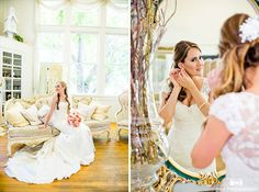 Brides prepare for wedding day at Green Gables Wedding Estate #weddingphotography / national wedding photographers