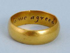 17th Century Gold Posy Ring 3