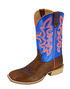 Twisted X Men's Hooey By Neon Blue Cowboy Boot Wide Square Toe >>> Details can be found at http://www.lizloveshoes.com/store/2016/06/05/twisted-x-mens-hooey-by-neon-blue-cowboy-boot-wide-square-toe/?bc=250616194222