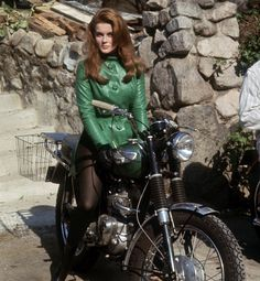 Swedish actress Ann-Margret showed off her biking skills in the 1966 film The Swinger—she was an avid (and stylish) rider in real life.