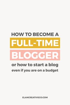 Do you want to become a full-time blogger or to start a creative business? Read my tips for DIY-ing your blog or website even if you are on a budget. You can easily build a blog even if you are not tech-savvy.