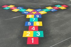 Playground markings LOVE ALL OF THESE!!!! Who gets first to the centre?