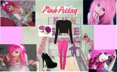 """its pink friday bxtches xD"" by pandabear2752 ❤ liked on Polyvore"