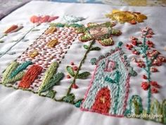 bloom stitching sampler by charlottelyons on Etsy Embroidery Stitches, Embroidery Patterns, Crochet Lace Edging, Irish Crochet, Crochet Hat For Women, Stitch Lines, Back Stitch, Satin Stitch, Crochet Gifts