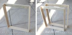How to build a white modern desk with miter saw and kreg jig 1 Modern White Desk, White Desks, Diy Wood Desk, Diy Desk, Wood Shelf, Diy Wooden Projects, Wooden Diy, Ikea Desk Legs, Home Office Cabinets