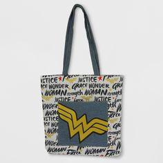 Girls DC Comics Wonder Woman Tote Bag - White/Blue & 2 tins once per month candle subscription box \u2013 Cellar Door Candles ...