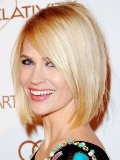 2014 Sleek Neck-Length Bob Hairstyle