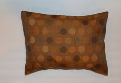 Exclusive 12x16 Orange Rust Brown Cirlce Lumbar Pillow by DecorTreasures on Etsy