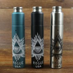Vape Rogue Mechanical Mod Kit Rogue Rebuildable Dripping Tank 2 Posts Airflow Control dual 18650 Battery Mech Mod Kits