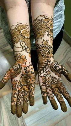 Khafif Mehndi Design, Floral Henna Designs, Latest Bridal Mehndi Designs, Stylish Mehndi Designs, Full Hand Mehndi Designs, Mehndi Designs Book, Wedding Mehndi Designs, Beautiful Mehndi Design, Dulhan Mehndi Designs