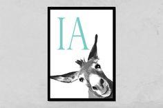 Kunstdruck Esel von PapierMond auf DaWanda.com