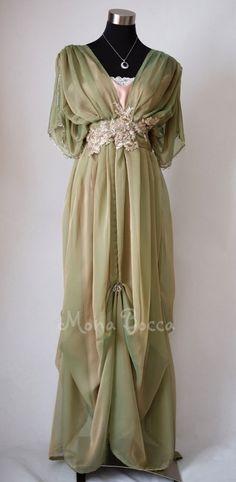 Edwardian dress handmade in England by Mona Bocca Lady Mary inspired dress #MonaBocca #EmpireWaist #Formal