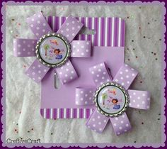 Dora the Explorer hair clips by Cre8iveCraft on Etsy, $8.00