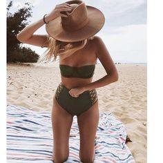 62f9777777 Women's High Waist Push Up Hollow Out Bikini HS483 – 105 Hillside Bikini  Bottoms, Bikini