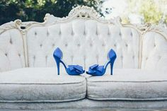 Blue Satin Bridal Shoes | Julio Fonyat | TheKnot.com