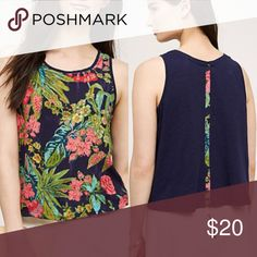 Lille floral tank DETAILS By Postmark Polyester; cotton-knit back Hand wash Anthropologie Tops