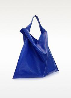 Pelle Blu Cobalto - Jil Sander