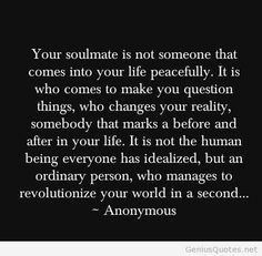 Love soulmate quote