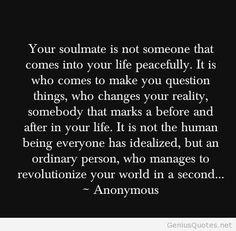 Love soulmate quote