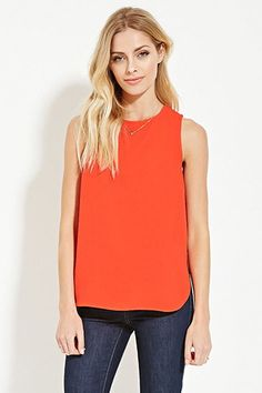 Contemporary Zip-Back Top | Forever 21 - 2000149969